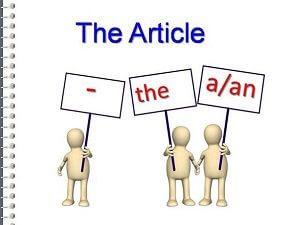 Артикли в английском языке